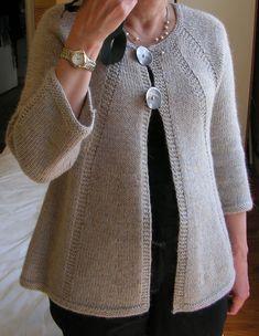 Cardigan La Droguerie By Eclatdusoleil, - DIY & Crafts Knit Wrap Pattern, Knit Cardigan Pattern, Crochet Jacket, Sweater Knitting Patterns, Easy Knitting, Crochet Cardigan, Knitting Stitches, Knitting Designs, Knit Patterns