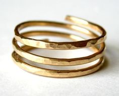 TRINITY open band 14K gold filled wire wrap ring von muyinmolly