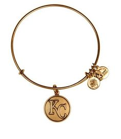 Alex and Ani... Kansas City Royals™ Cap Logo Charm Bangle Motivation • Heart • Patriotism