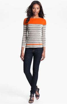 autumn cashmere Engineer Stripe Sweater available at #Nordstrom