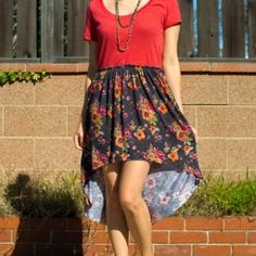 Sew a light, spring dress with one yard of fabric and an old tee. With a relaxed waistband, the dress is flattering, yet easy on the body