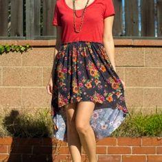74e117fe3ea2d7 diy tutorial - sew a one-yard tee dress from an old tshirt (hi low dress)