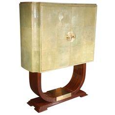 Art Deco Italian Bar/Cabinet, in Macassar Ebony / 1std