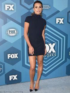 Lea Michele looks incredible in bodycon dress at Fox Upfronts