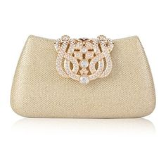 24f95496df36 Damara Womens Gauze Paillette Crown Clutch Shoulder Wedding BagsGold      Learn more by visiting. Shoulder Bags ...
