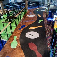 This bowling alley installation is a great example of our LVT custom cutting capabilities. 🎳