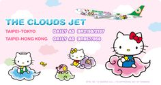 Hello Kitty Jet Travels with You!   Route Map