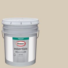 Glidden Essentials 5 gal. #HDGWN28 Natural Linen Semi-Gloss Interior Paint