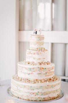 Funfetti Wedding Cake :) On SMP: http://stylemepretty.com/2013/03/29/long-island-city-wedding-from-judy-pak |  Photography: Judy Pak