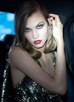 My favorite model, Karlie Kloss. Incredibly versatile - the Missouri-born Kloss is only 19 years old, but is already on the verge of becoming the queen of supermodels. -Sangita