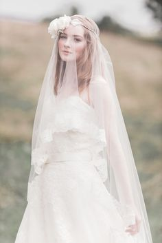 A perfect bridal look isn't only about the wedding dress and wedding hairstyle, but wedding accessories are just as important such as the wedding veil and headpiece. Today we have collected some beautiful ideas to hel. Wedding Veils, Wedding Bride, Wedding Dresses, Wedding Hair, Lace Wedding, Bridal Looks, Bridal Style, Veil Hairstyles, Bridal Hairstyles