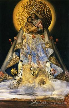 Salvador Dali's oil painting The Virgin of Guadalupe. 1959