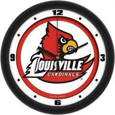 University of Louisville Cardinals Glass Wall Clock