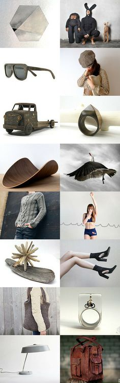 GrEy with BroWn by ILze Apine on Etsy--Pinned with TreasuryPin.com Grey, Brown, Board, Gray, Brown Colors, Planks
