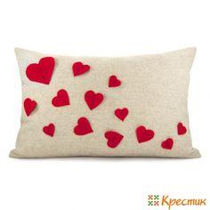 подушка сердце своими руками -