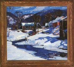 Vermont village in winter - Aldro Thompson Hibbard