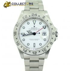 Rolex Explorer II 16570 Stainless Steel White Dial A-Series GMT 40mm Watch #rolex #explorerII #stainless #steel #white #dial #gmt #mens #professional #jewelry #watch