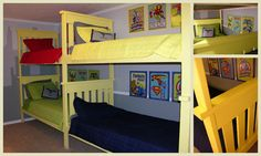 Love the bunk wall.