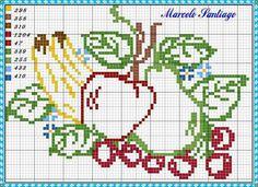 Cross Stitch Fruit, Small Cross Stitch, Cross Stitch Cards, Cross Stitch Borders, Cross Stitch Flowers, Cross Stitching, Hand Embroidery Stitches, Cross Stitch Embroidery, Fruit Crafts
