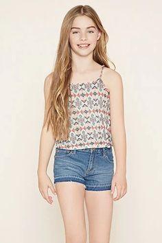 Girls Geo Print Cami (Kids) #f21kids