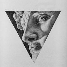 Click the image, for more art by Paige Bates. Pencil Art Drawings, Art Drawings Sketches, Sketch Art, Pencil Sketching, Dark Art Drawings, Realistic Drawings, Art Illustrations, Statue Tattoo, Black And White Art Drawing