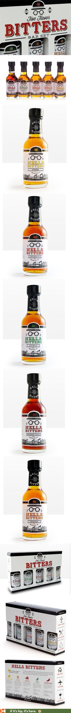 Like all of Hella Company's products, their set of 5 flavored Bar Bitters is…