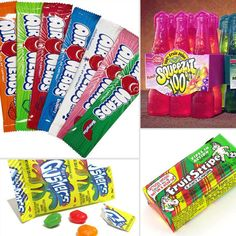 Satisfy everyone's sweet tooth with '90s candy and junk food like Air Heads, Gushers, and Fruit Stripe gum. Then wash it down with a Squeeze-It . . . or a Capri Sun if you can't find some Squeeze-Its!