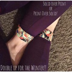 Double up on LuLaRoe leggings during the cold winter months for a cute cuffed look!! Styling options & color combinations are endless! ❤️