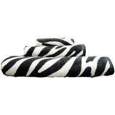 Your Zone 100% Cotton 3 Piece Towel Set, Zebra for the bathroom!!!