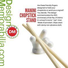 Manini Chopstick Stand designed by D'Urbino and Lomazzi // #DesignMemorabilia #Italy #kichen #kitchenware #home #homedecor #shop #gift #creative #design #stand #chopstick #DUrbinoandLomazzi