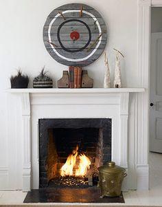 Wooden archery target art