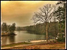 Kanuga Lake, NC in the morning mist.