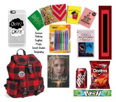 """Inside My BackPack//Back-to-School"" by queen-zamar ❤ liked on Polyvore featuring interior, interiors, interior design, hogar, home decor, interior decorating, Aéropostale, Humör, Kate Spade y Marvel Comics"