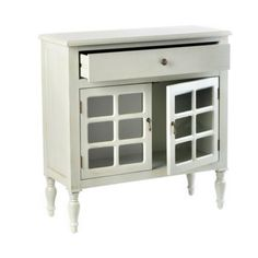 Side tables for the bedroom? http://www.kirklands.com/product/Wood-Gray-2-Door-Cabinet/162941.uts#
