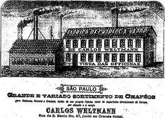 Fábrica de chapéus a vapor de Carlos Weltmann. Rua São Bento, 47,'junto ao Grande Hotel', em São Paulo.    31 de março de 1887.  http://blogs.estadao.com.br/reclames-do-estadao/2010/07/01/chapeu-a-vapor/