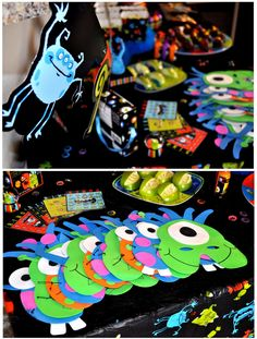 monster masks for a kids birthday party