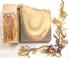 Valencia Orange, Volcanic Ash, Acne Control, Arrowroot Powder, Sea Moss, Sodium Hydroxide, Vitamin K, Beta Carotene, Cold Process Soap