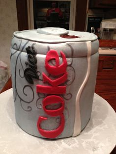 Diet Coke can birthday cake I made for a very special teacher.