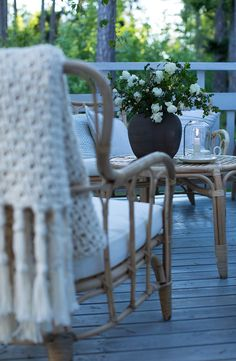 Sommarbacka.fi Porch Veranda, Wishbone Chair, Sunroom, Terrace, My Photos, Patio, Summer, Outdoor, Blanket