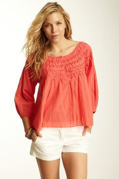 Solid Peasant Blouse by Free People on @HauteLook