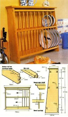 DIY Plate Rack - Furniture Plans and Projects | WoodArchivist.com