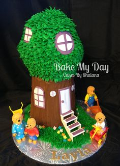 Berenstein Bears  - Cake covered in buttercream, with fondant accents. Stairs are gum paste.