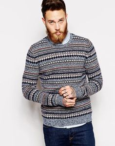 Enlarge ASOS Lambswool Rich Fair Isle Sweater