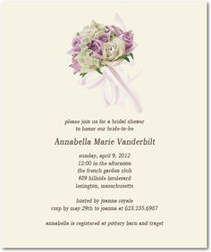 Modern Bouquet Bridal Shower Invitation Card HPB147 Garden Club, Response Cards, Sweet Style, Text Color, Bridal Shower Invitations, Invitation Cards, Colorful Backgrounds, Bouquet, Romantic
