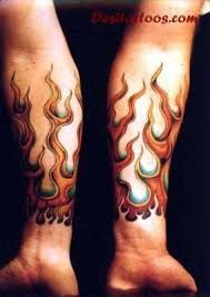 Image result for sleeve tattoo fire chinese symbol and flames