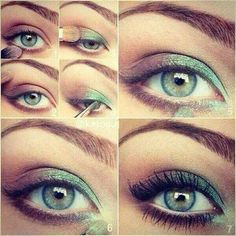 Amazing green and purple eye makeup for green eyes