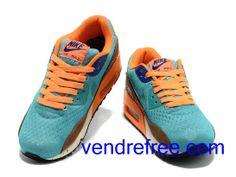 brand new 01edd f8d09 Vendre Pas Cher Homme Chaussures Nike Air Max 90 (couleur bleu,orange,marron)  en ligne en France.