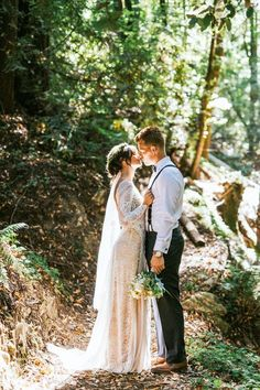 Ethereal forest wedding portrait | Image by Seth & Kaiti Photography