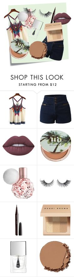 """Aztec Style"" by coral45 on Polyvore featuring Post-It, LE3NO, Lime Crime, Urban Decay, Marc Jacobs, Bobbi Brown Cosmetics and Lipsy"