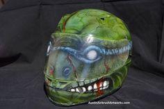 Sweet airbrushed TMNT motorcycle helmet